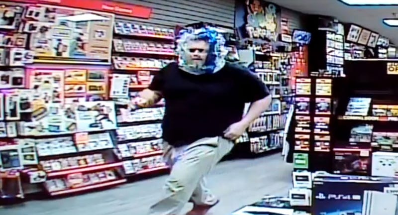 Illustration for article titled Man Breaks Into GameStop Wearing Plastic Bag On His Head
