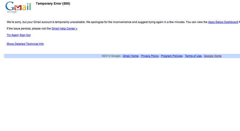 Illustration for article titled Gmail Is Down, Everybody Freak Out (Update: Okay We're Cool)