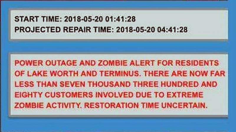 Illustration for article titled Florida City Has Been Accidentally Sending Out Zombie Alert Messages Since Hurricane Irma