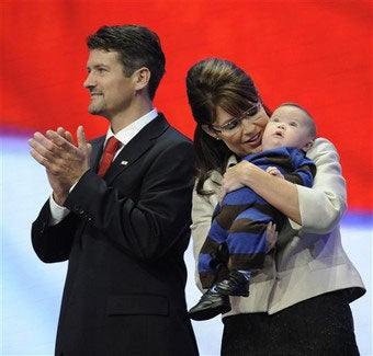 "Illustration for article titled Sarah Palin Claims ""Death Panels"" Will Kill Son; Gingrich Agrees"