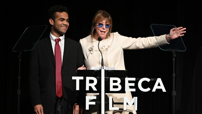 Phillip Youmans and Jane Rosenthal speak onstage at Awards Night - 2019 Tribeca Film Festival on May 2, 2019 in New York City.