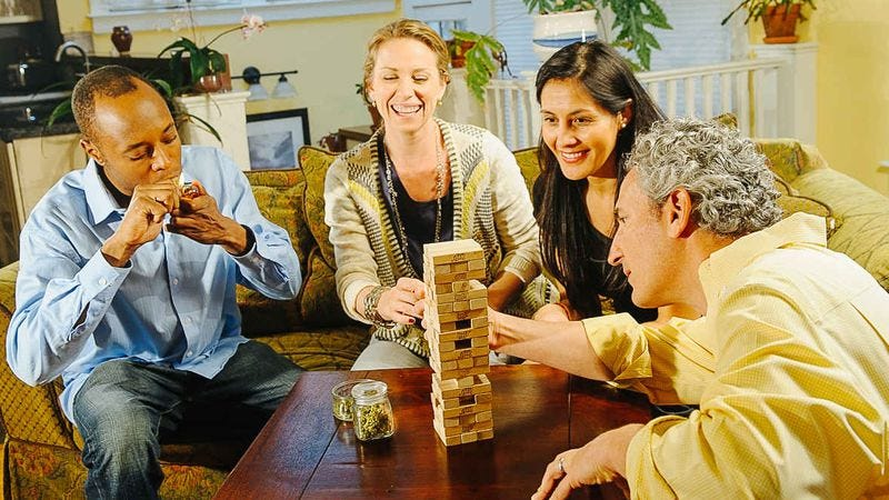 Illustration for article titled These stock photos of adults smoking weed are terrifying