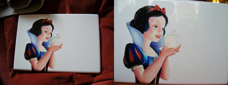 Illustration for article titled Snow White MacBook Cover Can Only Be Awakened With Steve Jobs's Kiss