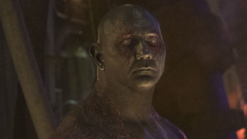 Dave Bautista, seen here in Avengers: Infinity War, just took his support of director James Gunn to another level.