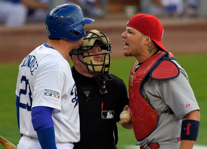 Illustration for article titled Report: Yadier Molina Will Be Fined, Not Suspended, For Pushing Umpire