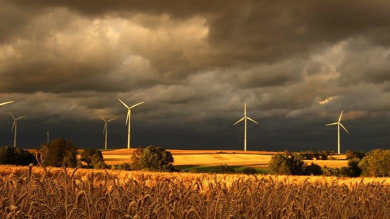 Windmills in a storm