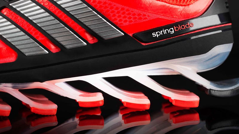 Illustration for article titled Adidas Springblade: Shoes with Actual Springs Might Be a Good Idea?