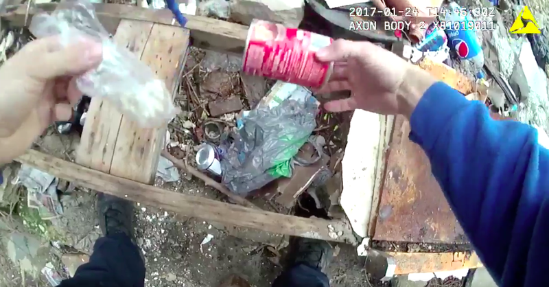Video shows Baltimore police officer allegedly planting drugs