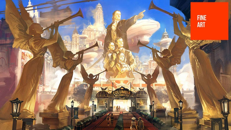 Illustration for article titled The Beautiful Concept Art Of BioShock Infinite