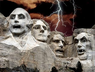 Illustration for article titled Report: 94% Of South Dakotans Unprepared For Mt. Rushmore Faces Coming Alive And Eating Everyone
