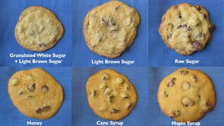 Illustration for article titled Pick the Best Sweetener for a Perfect Batch of Chocolate Chip Cookies