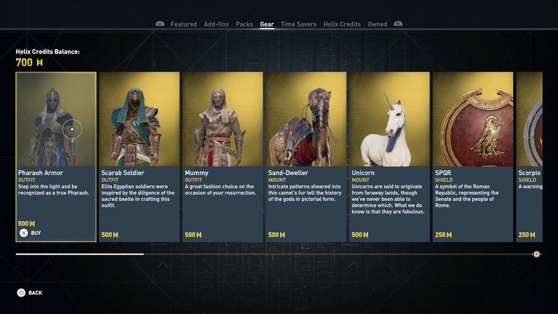 Illustration for article titled Assassin's Creed Origins' Microtransactions (Mostly) Just Get You Things You Can Earn While Playing, Ubisoft Says