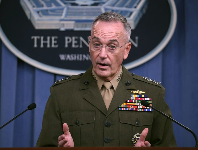Gen. Joseph Dunford Jr., chairman of the Joint Chiefs of Staff, briefs the media on the recent military operations in Niger at the Pentagon on Oct. 23, 2017, in Arlington, Va. (Mark Wilson/Getty Images)