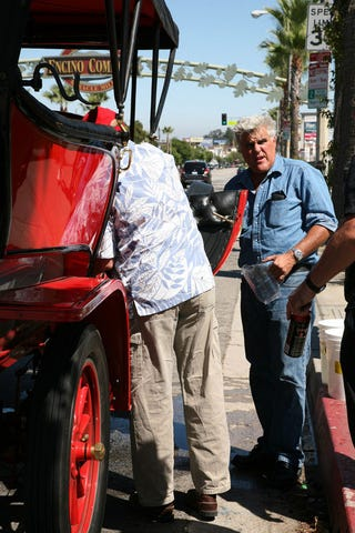 Illustration for article titled Jay Leno's Steam Car Goes Up In Smoke