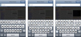 Illustration for article titled 5-Row QWERTY Jailbreak App Fixes One of the iPhone Keyboard's Most Annoying Flaws
