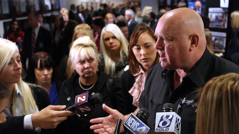 Moonlite Bunny Ranch owner Dennis Hof back in 2011 fighting a push to ban legalized sex work in Nevada.