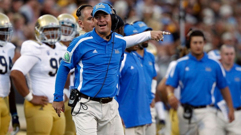 Illustration for article titled Jim Mora Is An Asshole