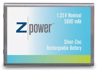 Illustration for article titled ZPower's 40% Better Silver-Zinc Batteries Coming in Laptops This Year