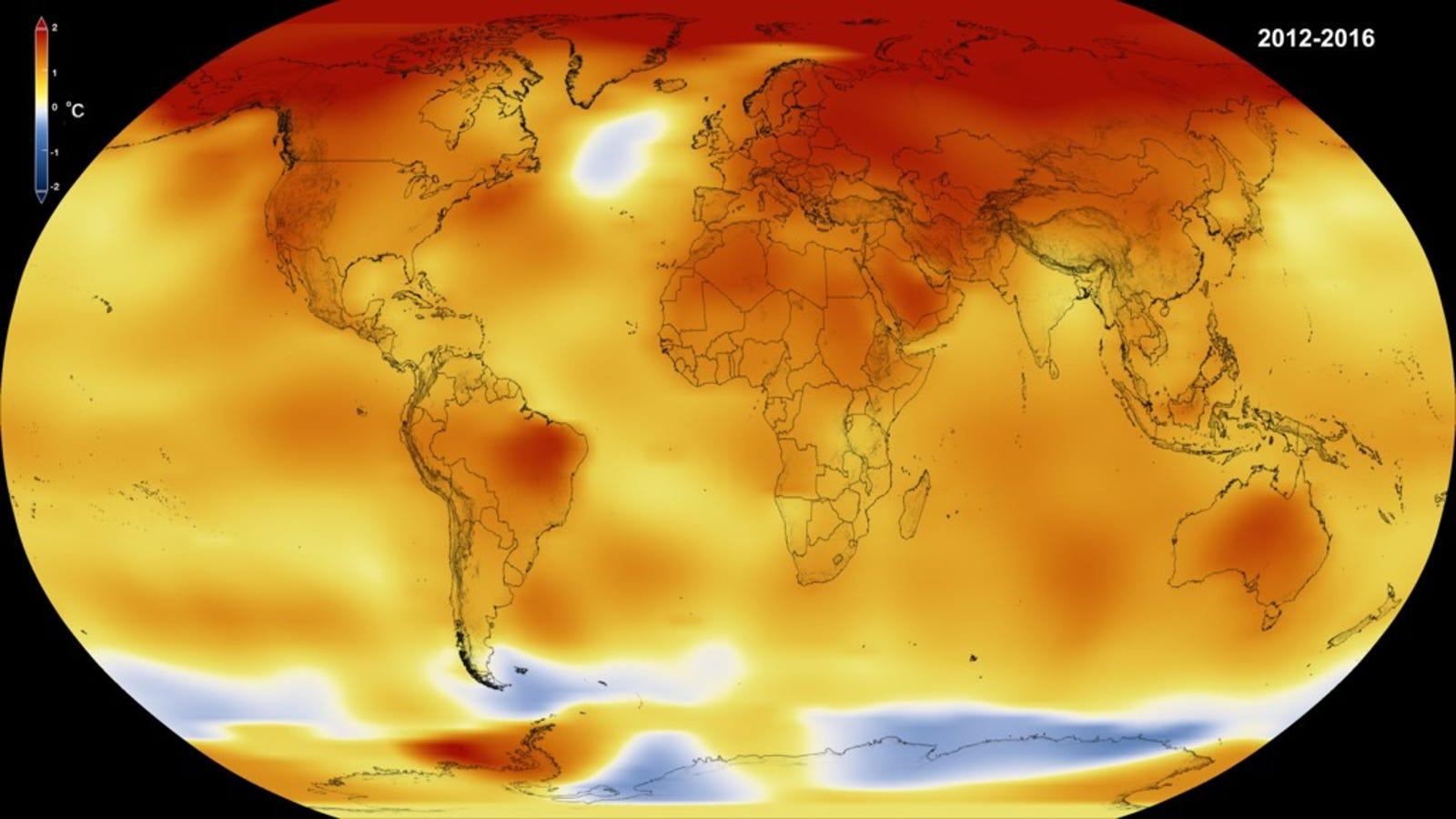 Ya es oficial: 2016 fue el año más caluroso desde que se tienen registros
