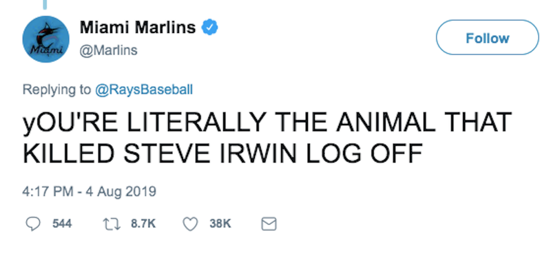 Illustration for article titled Miami Marlins Sorry For Blaming Tampa Bay Rays For Killing Steve Irwin