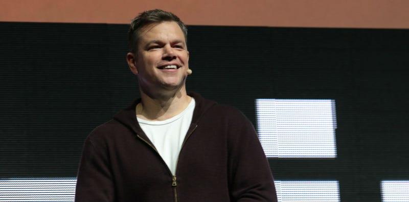 Matt Damon at CinemaCon 2017 to talk Downsizing. (Image: Alex J. Berliner/ABImages)