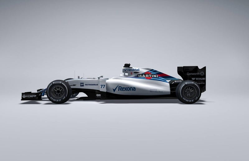 Illustration for article titled Williams Martini Racing is first to show off new car