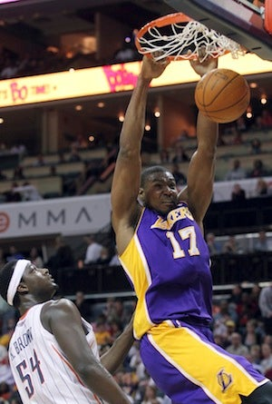 "Illustration for article titled Kwame Brown Says He Taught Andrew Bynum ""Everything He Knows"""