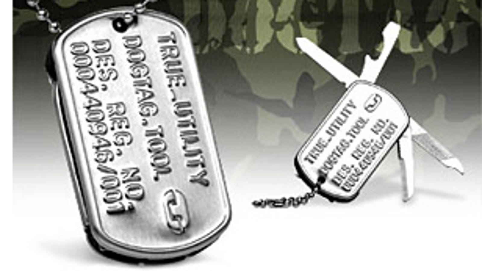 Tool Tags: Dog Tag Multi-Tool, Now 100-Percent More Trendy