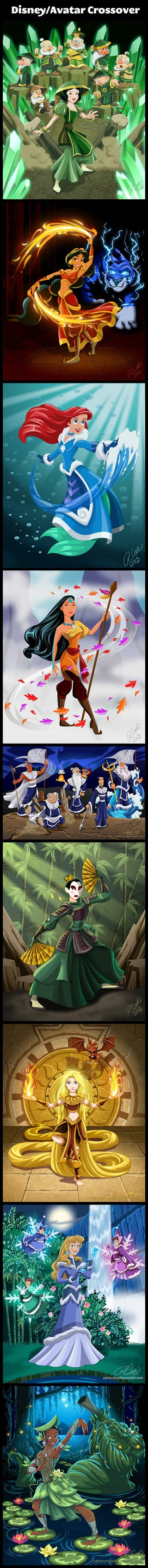 Illustration for article titled Disney princesses as Avatar characters