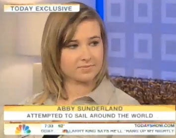 Illustration for article titled Abby Sunderland Defends Herself On Morning Television