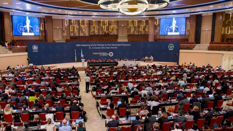Leaders assembled in Kigali, Rwanda in October 2016 to hash out the Kigali Amendment to the Montreal Protocol.