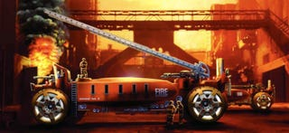 Illustration for article titled Shiny, Badass Fire Fighting Machine for the Year 2025