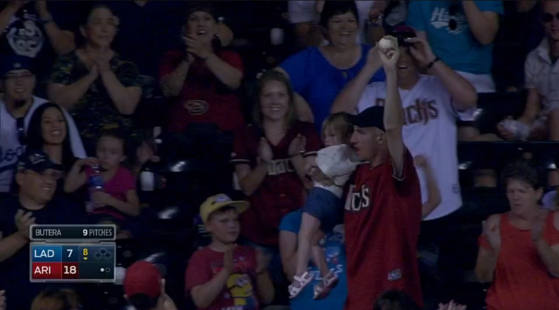 Illustration for article titled Goldschmidt Bashes Homer; Man With Kid Catches It; John McCain Excited