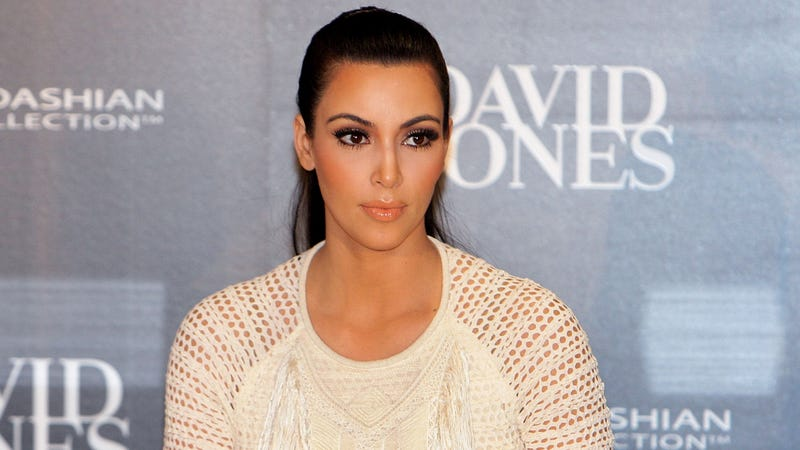 Illustration for article titled Kim Kardashian Says Baby Brow Waxing Claims Are 'Sick'