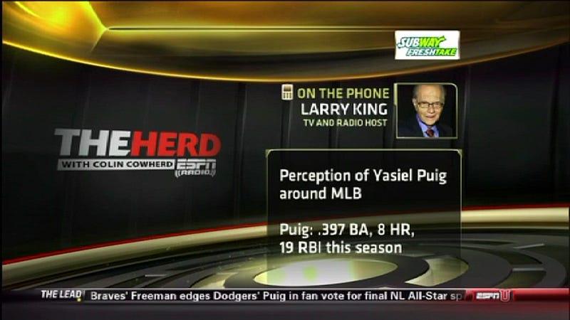 Illustration for article titled Larry King: MLB Perception Expert