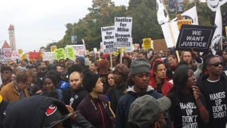 #FergusonOctober protesters in downtown St. Louis Oct. 11, 2014Sharee Silerio/The Root
