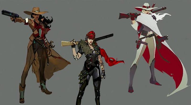 Early concepts for Overwatch's newest hero, Ashe