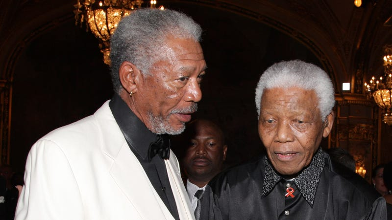 Illustration for article titled Billboard Memorializing Mandela Accidentally Uses Pic of Morgan Freeman
