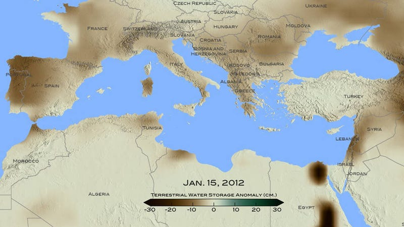 Illustration for article titled Recent Drought in Eastern Mediterranean Was the Worst in 900 Years