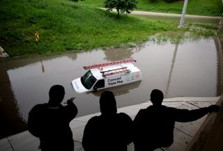 Illustration for article titled Caption this cable van flooding fail