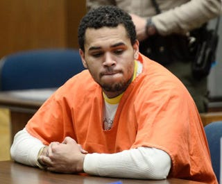 Chris Brown appears in court for a probation violation hearing in Los Angeles on May 9, 2014.Paul Buck-Pool/Getty Images