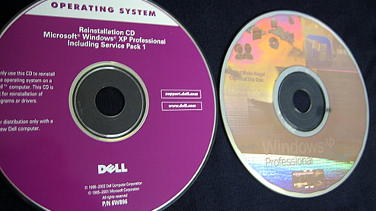 dell system recovery windows xp
