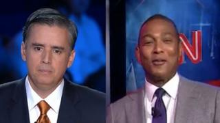Juan Carlos Lopez and Don Lemon at the Democratic presidential-primary debate Oct. 13, 2015Media Matters for America