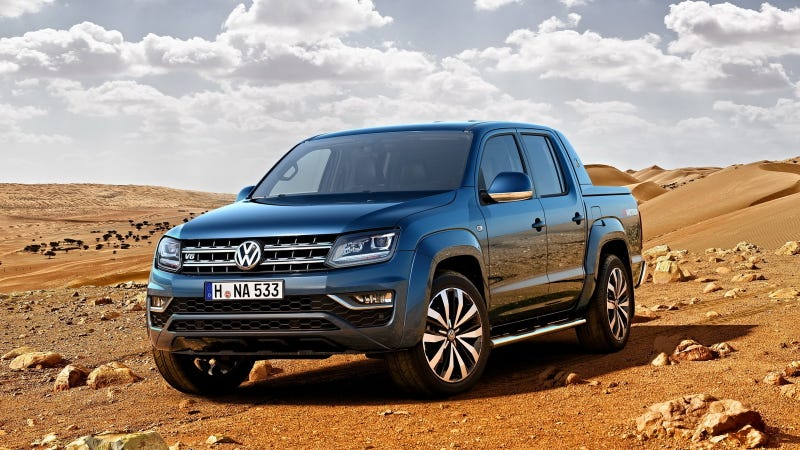 Illustration for article titled The First-Ever V6 Volkswagen Amarok Looks Like A Perfect Rugged Euro-Truck