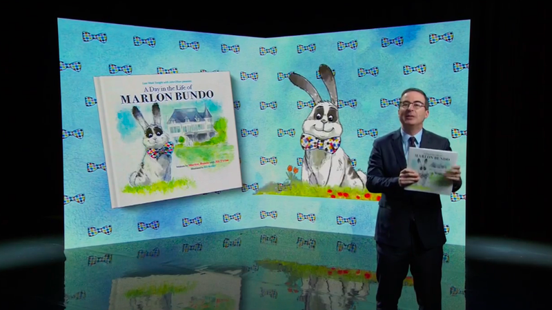 John Oliver hijacks homophobe Mike Pence's bunny book with a better one inA Day In The Life Of Marlon Bundo