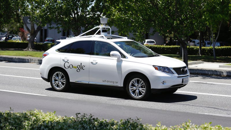 Illustration for article titled Google Driverless Car Crashes Are Your Damn Fault, Puny Humans: Google