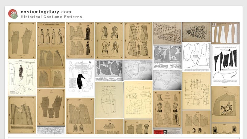 Illustration for article titled Make Amazing Historical Costumes With This Collection of Free Patterns