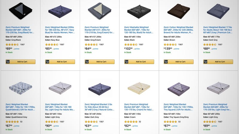 25% off Weighted Blankets | Amazon | Discount shown at checkout. Promo code 257LUSFN.