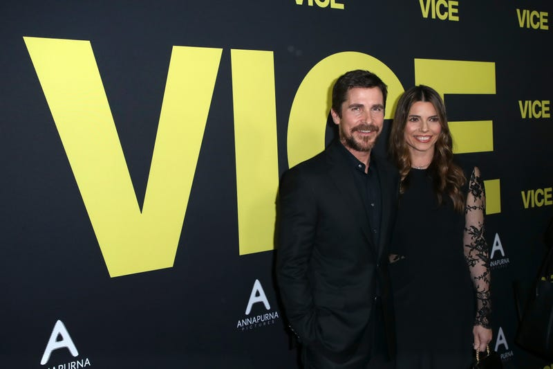 Christian Bale and Sibi Blazic attend Annapurna Pictures, Gary Sanchez Productions and Plan B Entertainment's World Premiere of 'Vice' at AMPAS Samuel Goldwyn Theater on December 11, 2018 in Beverly Hills, California.