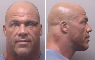 Illustration for article titled Kurt Angle's Latest DUI Arrest Results In Intimidating Mug Shot